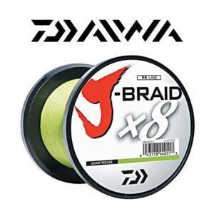 Daiwa J-Braid X8 Chartreuse 100 mtr