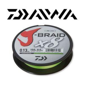 Daiwa J-Braid X8 Chartreuse 150 mtr