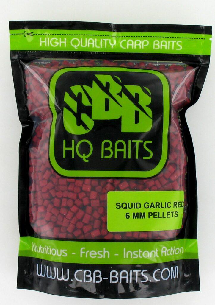 CBB HQ Baits Pellets Squid Garlic Robin Red