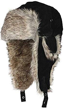 Eiger Suede Fur Hat Black L
